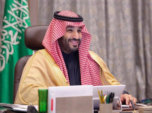 24 December 2020, Saudi Arabia, Riyadh: Saudi Crown Prince Mohammed bin Salman attends a video conference meeting of the Saudi-Bahraini Coordinating Council. Photo: -/Saudi Press Agency/dpa