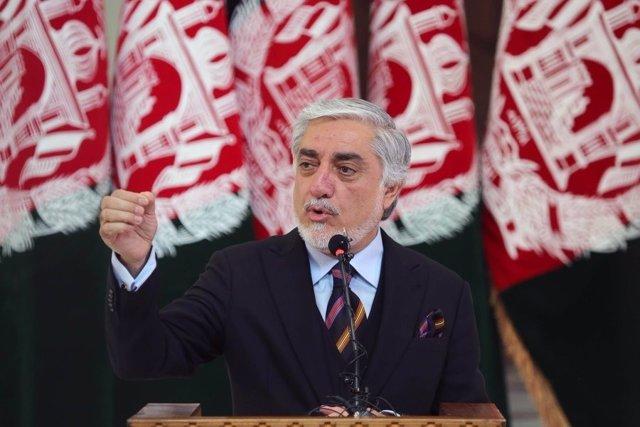 Abdulá Abdulá, en un acto en Kabul