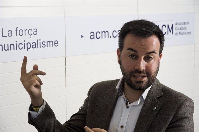 El president de l'ACM, Lluís Soler, durant l'entrevista