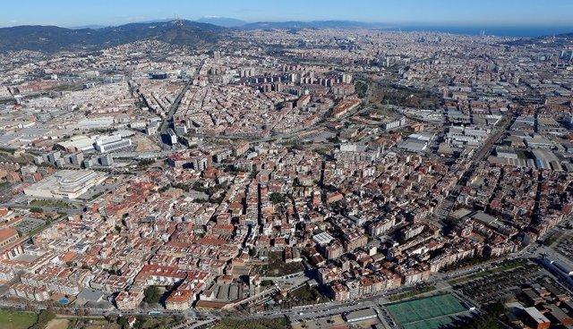 Foto áerea de l'àrea metropolitana de Barcelona
