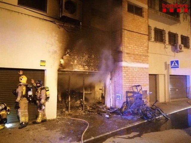 Un ferit greu per un incendi a Girona el dia de Nadal a la nit