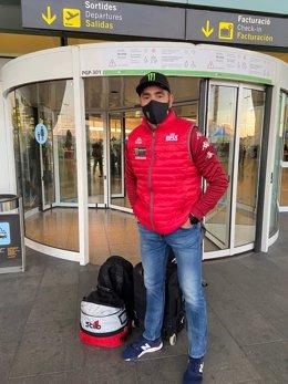 Nani Roma antes de partir hacia el Dakar 2021