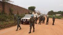 Patrulla de la MINUSCA en Bangui