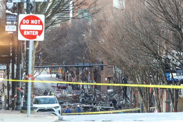 Restos de la explosión de Nashville.