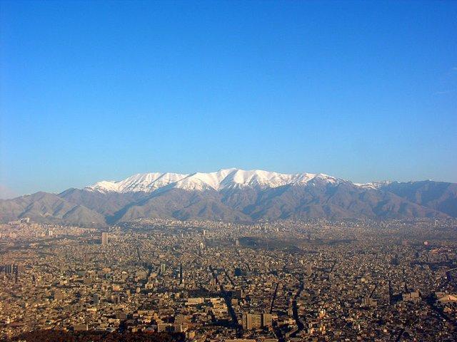 Cordillera de Alborz en Teherán