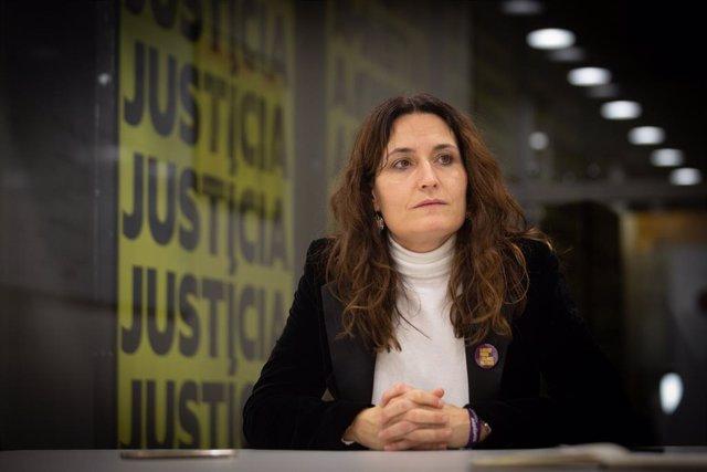 La número 2 d'ERC en les eleccions catalanes, Laura Vilagrà, abans d'una entrevista per a Europa Press, a Barcelona, Catalunya (Espanya), 22 de desembre del 2020.