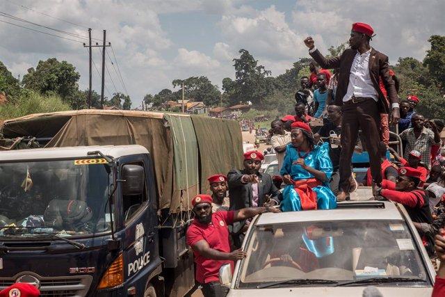 El diputado y líder opositor Robert Kyagulanyi, más conocido como Bobi Wine
