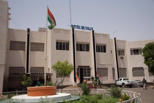 Sede del Ayuntamiento de Niamey, en Níger