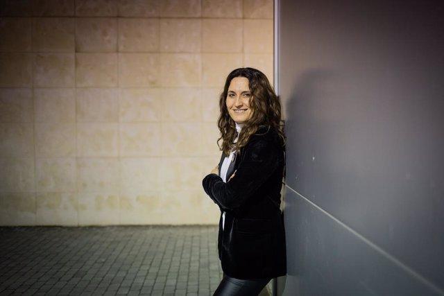 Laura Vilagrà durant l'entrevista d'Europa Press