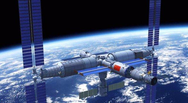 Impresión artística de la estación espacial china
