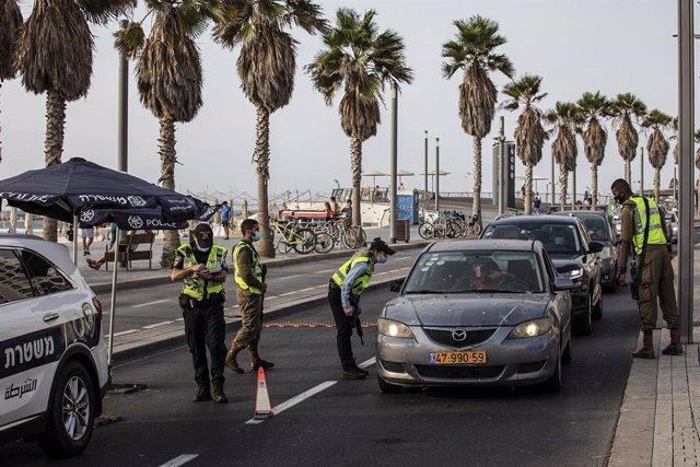 Tel Aviv durante el segundo confinamiento a nivel nacional en Israel a causa de la pandemia de coronavirus