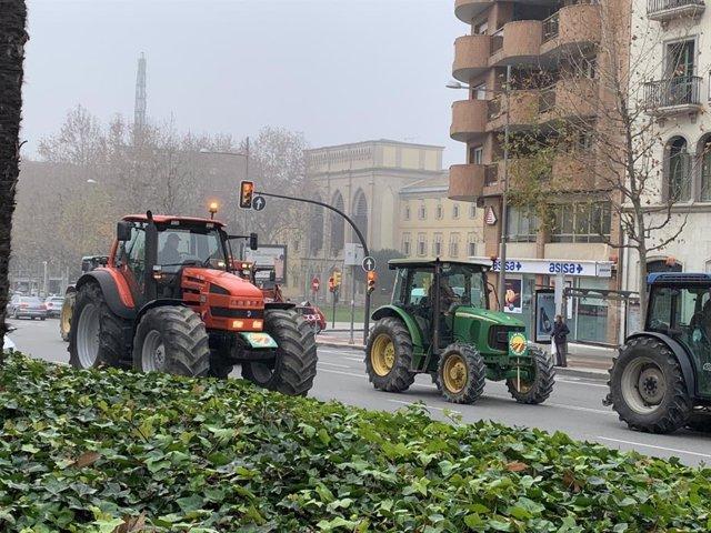 Tractorada d'Unió de Pagesos a Lleida (Arxiu).