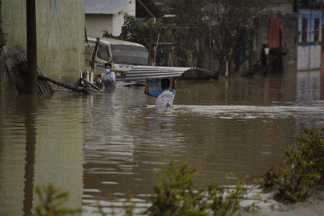 Inundaciones causadas por el huracán 'Eta' el pasado noviembre en Guatemala.