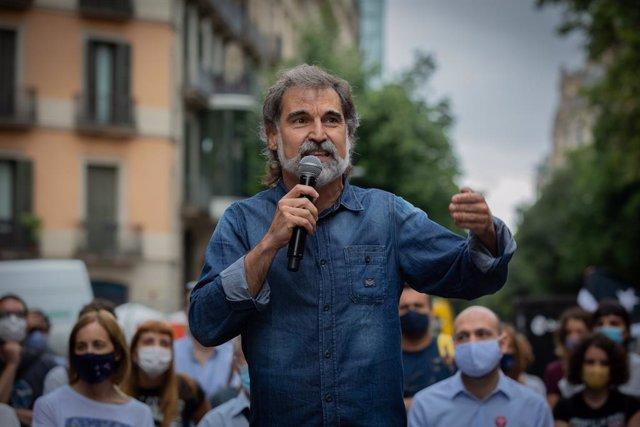 El president d'Òmnium Cultural, Jordi Cuixart, en una imatge d'arxiu.