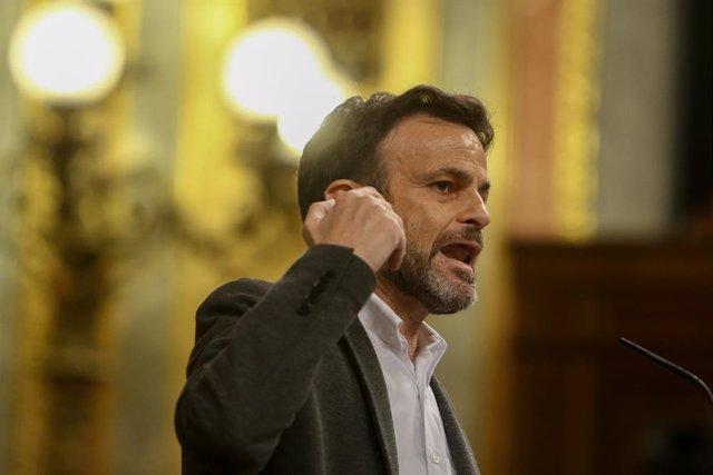 El president del Grup Unides Podem al Congrés, Jaume Asens, en una sessió plenària. Madrid (Espanya), 15 de desembre del 2020.