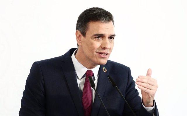 El president del Govern espanyol, Pedro Sánchez. Madrid (Espanya), 29 de desembre del 2020.