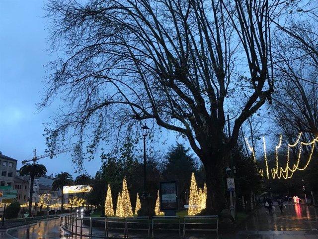 Navidad en  SAntiago de Compostela, en diciembre de 2020