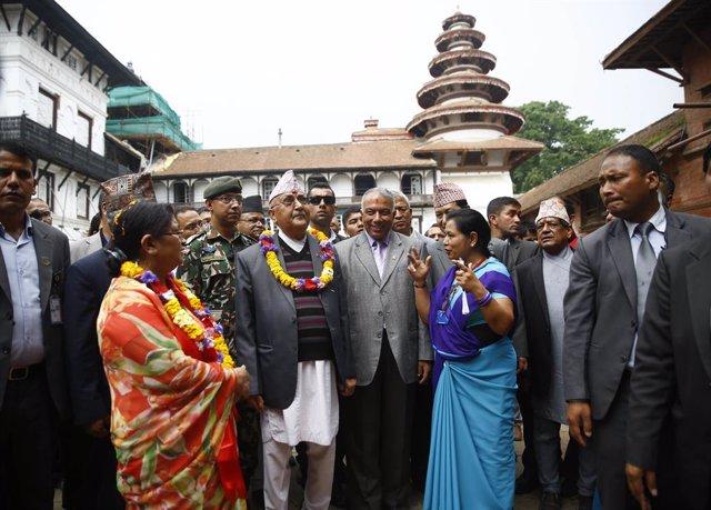 El primer ministro de Nepal, Jadga Prasad Sharma Oli