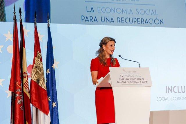 La ministra de Treball i Economia Social, Yolanda Díaz. Toledo, Castella la-Manxa (Espanya), 4 de desembre del 2020.