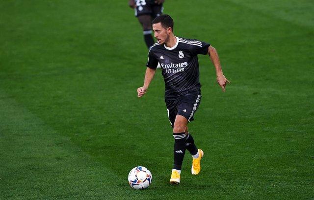 Eden Hazard en un partido del Real Madrid