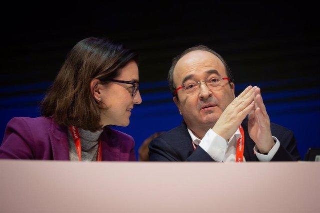 (E-D) La portaveu del PSC, Eva Granados; i el primer secretario del PSC, Miquel Iceta
