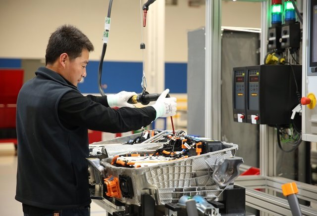 Fábrica de baterías de BMW Brilliance Automotive en Shenyang (China)