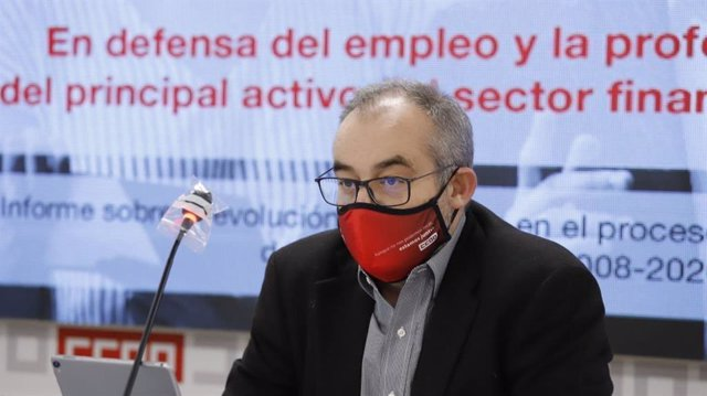 El secretario general de CCOO Servicios, José María Martínez.