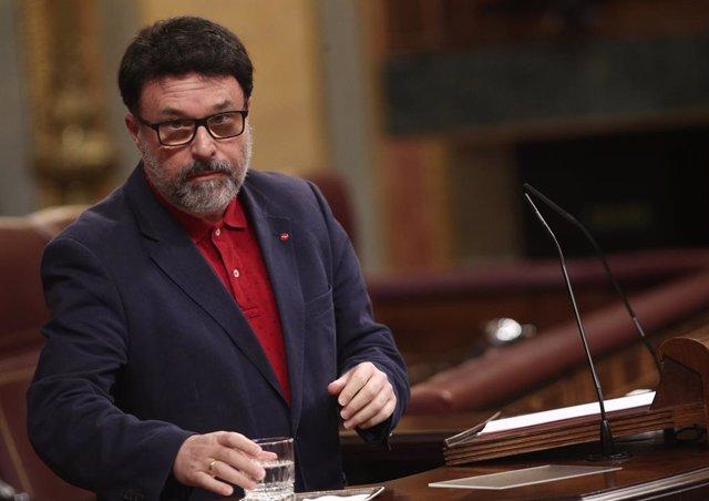 El diputat d'ERC, Joan Josep Nuet, al Congrés dels Diputats. Madrid (Espanya), 11 de juny del 2020.