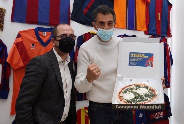 Jordi Farré regalando pizzas