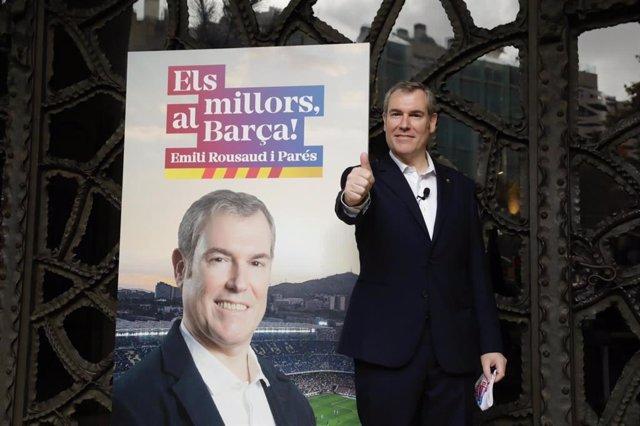 El precandidato a la presidencia del FC Barcelona Emili Rousaud, líder de la candidatura 'Els millors, al Barça!'