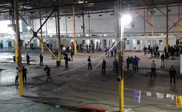 Desalojo de migrantes en Bosnia.