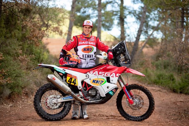 La piloto Laia Sanz (GasGas) en su preparación para el Rally Dakar 2021