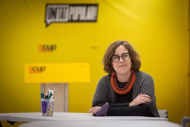 Eulàlia Reguant durant l'entrevista amb Europa Press