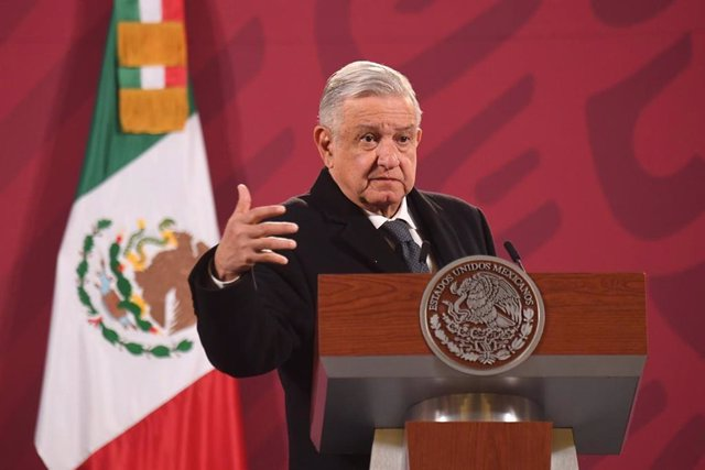 31 December 2020, Mexico, Mexico City: Mexican President Andres Manuel Lopez Obrador speaks during his daily press conference at the National Palace. Photo: El Universal/El Universal via ZUMA Wire/dpa
