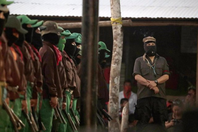 Foto de archivo del EZLN