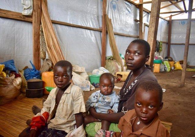 Desplazados por la violencia en Bunia, Ituri (este de RDC)