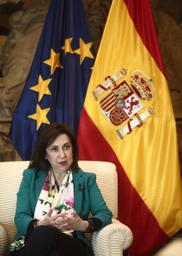 La ministra de Defensa, Margarita Robles, durante una entrevista con Europa Press, en Madrid (España) a 30 de diciembre de 2020.