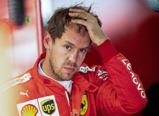 FILED - 26 July 2019, Hockenheim: German Formula One driver Sebastian Vettel of Team Scuderia Ferrari reacts after the second free practice session of the 2019 Formula 1 World Championship Grand Prix of Germany. Ferrari confirmed that Vettel would leave t