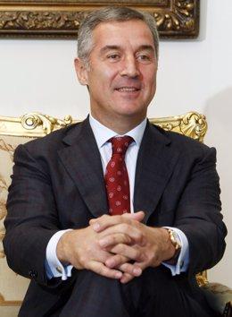 Primer ministro de Montenegro Milo Djukanovic