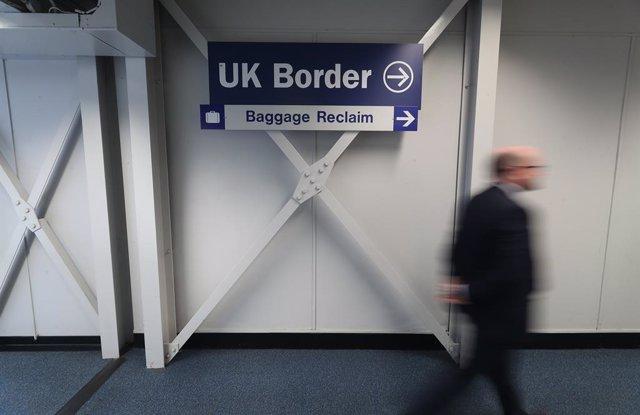 Frontera del Regne Unit a l'aeroport de Belfast, a Irlanda del Nord