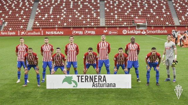 Jugadores del Sporting de Gijón.