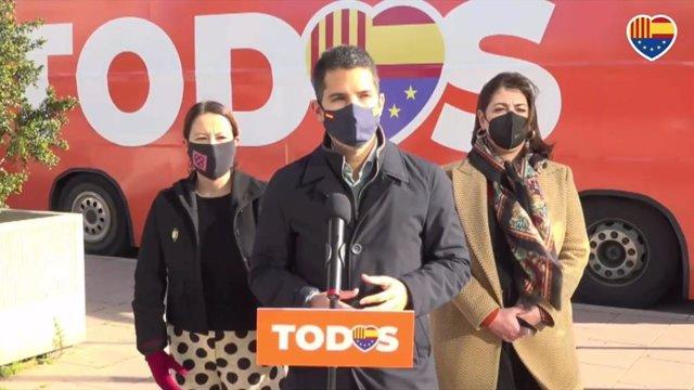 El diputat de Cs Nacho Martín Blanco, en roda de premsa.