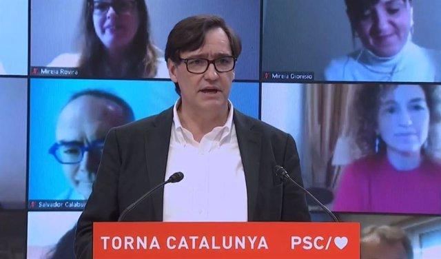 El ministre de Sanitat i candidat del PSC a les eleccions catalanes, Salvador Illa.