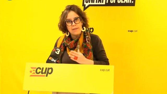 La número tres de la CUP a les eleccions catalanes previstes per al 14F, Eulàlia Reguant.