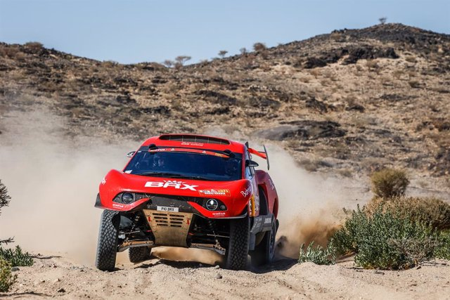 311 Roma Nani (esp), Winocq Alexandre (fra), Hunter, Bahrain Raid Extreme, BRX, Auto, action during the 1st stage of the Dakar 2021 between Jeddah and Bisha, in Saudi Arabia on January 3, 2021 - Photo Florent Gooden / DPPI