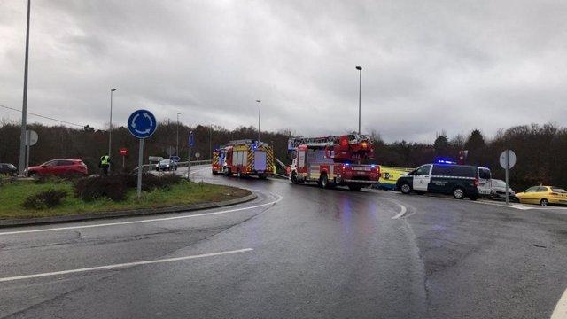 Accidente mortal en Allariz (Ourense).