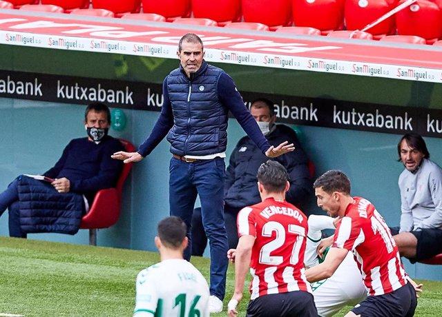 Gaizka Garitano, head coach of Athletic Club,during the Spanish league, La Liga Santander, football match played between Athletic Club and Elche CF at San Mames stadium on January 3, 2021 in Bilbao, Spain.
