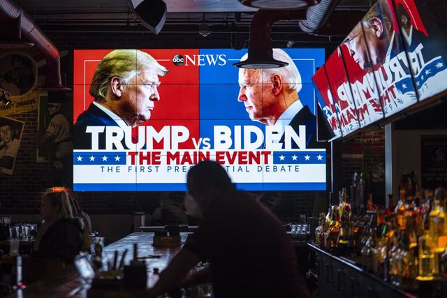Debate televisado entre Donald Trump y Joe Biden