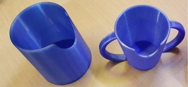 Vaso con Escotadura impreso en 3D