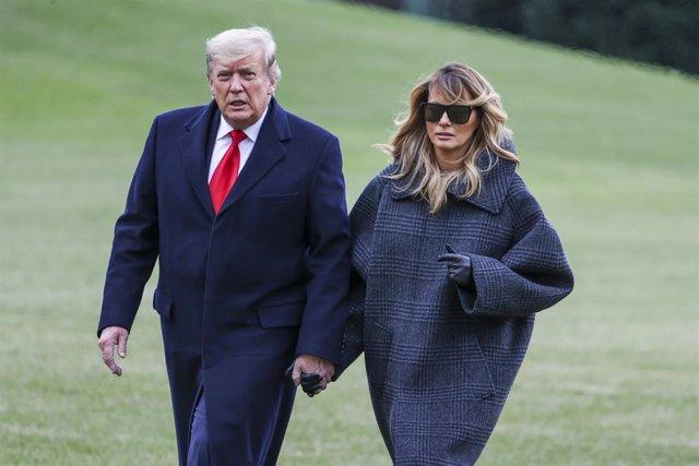 El presidente de Estados Unidos, Donald Trump, y la primera dama, Melania Trump